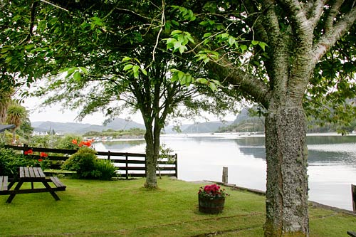 Garden overlooking the loch in Plockton village
